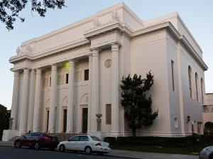 The Internet Archive, which now consists of more than 20 petabytes of data, is housed in a Greek Revival building in San Francisco that was once a Christian Science church. (Photo: Rudy Rucker)