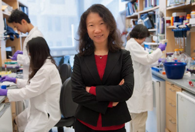 A photograph of Hao Wu in a lab
