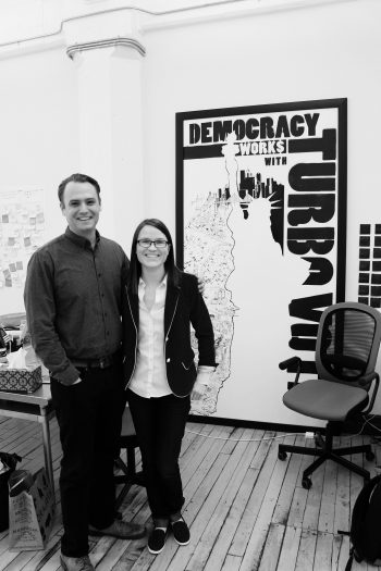 Seth Flaxman (Executive Director) and Kathryn Peters (Chief Operating Officer), cofounders of Democracy Works (Photo: Rita Allen Foundation)