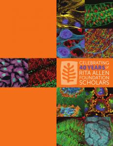 Click the image to download the Rita Allen Foundation Scholars anniversary magazine